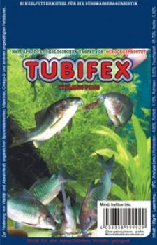 Tubifex, gefroren, Vitamin plus, 100g Blistertafel