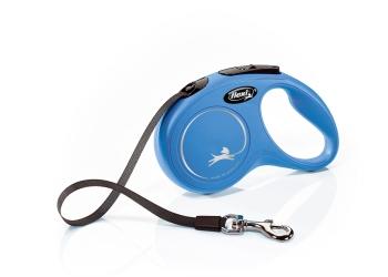 Flexi Classic Compact 2, blau, Größe M, 5m Gurt, bis 25kg