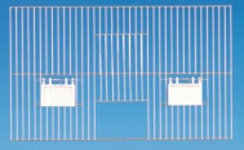 Vorsatzgitter mit Aussenfuetterung 40 x 30cm