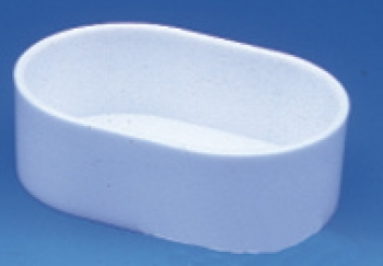 Futter- und Wassernapf, weiss, oval