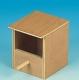 Exotennistkasten, Holz, halboffen, mit Anflugstange