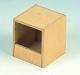 Exotennistkasten, Holz, offen, 11x11x13cm
