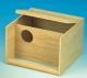 Großsittichnistkasten mit Anflugstange, Holz, 30x20x28cm