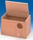 Großsittichnistkasten, Holz, waagerecht, 30x20x20cm