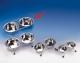 Napfständer, chrom, inkl. 2 Edelstahlnäpfen 2,8 Liter, 24cm
