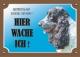 Warnschild Englischer Springerspaniel, black & white