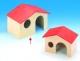 Nagerhaus Almhütte groß, mit rotem Dach