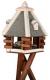 Natura Futterhaus mit Ständer, Ø 55cm x 43/146cm hoch