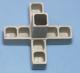 5-Wege Steckverbinder-Kreuz mit Abgang