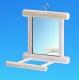Holzspiegel mit Landeplatz, 10 x 10cm