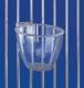 Eifutternapf, rund, transparent, für Gitter