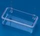 Futternapf, transparent, mit Drahtbügel, 10cm