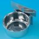 Edelstahlnapf, zum Einhängen, mit Halterung, klein, 0,3 Liter